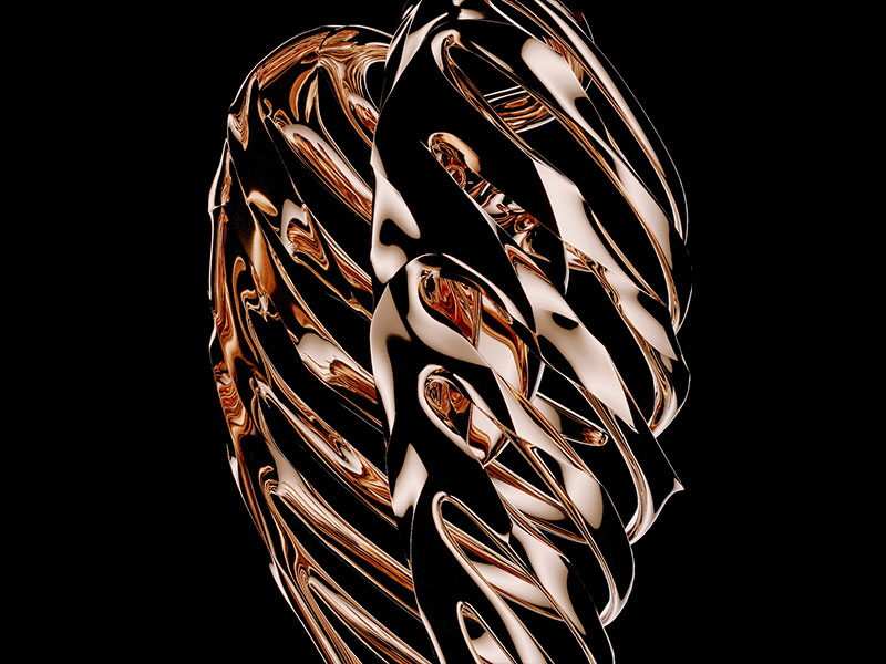 Sculpture Saint Heart Of Gold
